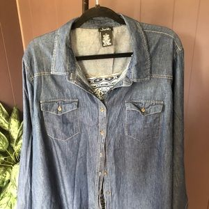 Justify Long Sleeve Button Down